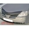 Дефлектор капота (с логотипом) Nissan Primera 2002- (EGR, SG3440DSL)