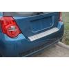 Накладка с загибом на задний бампер для Chevrolet Aveo (5D) 2012+ (Alu-Frost, 25-3669)