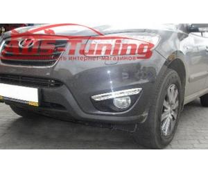 Дневные ходовые огни DRL для Hyundai Santa Fe 2010+ (LONGDING, DRL-HD-06)