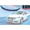 Дефлектор капота (темный) для Honda Civic хэтчбек 2012- (EGR, SG6534DS)