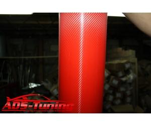 Пленка карбоновая (красная), ширина 75 см (АРА, AUTOPL75.RED)