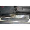 Накладки на внутренние пороги для Chevrolet Captiva 2006-2011 (Nata-Niko, P-CH03)
