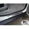 Накладки на внутренние пороги для BMW X5 (E70/F15) 2006+ (Nata-Niko, P-BM06)