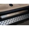 Накладки на внутренние пороги для BMW X6 2008+ (Nata-Niko, P-BM07)