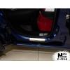 Накладки на внутренние пороги для Fiat Fiorino/Qubo 2008+ (Nata-Niko, P-FI10)