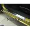 Накладки на внутренние пороги для Mazda 2 II 2007-2014 (Nata-Niko, P-MA03)