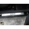Накладки на пороги для Mitsubishi Colt VI/VII (5D) 2004+ (Nata-Niko, P-MI03)