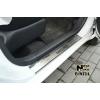 Накладки на внутренние пороги для Nissan Micra IV (5D) 2010+ (Nata-Niko, P-NI11)
