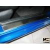 Накладки на внутренние пороги для Peugeot 206 (5D) 1998+ (Nata-Niko, P-PE08)
