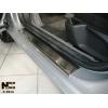 Накладки на внутренние пороги для Peugeot 407 (5D) 2004+ (Nata-Niko, P-PE14)
