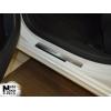 Накладки на внутренние пороги для Peugeot 508 2011+ (Nata-Niko, P-PE15)