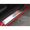 Накладки на внутренние пороги для Renault Clio III (5D) 2005+ (Nata-Niko, P-RE04)