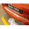 Накладка на задний бампер для Skoda Fabia II (5D) 2007+ (NataNiko, B-SK01)
