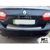 Накладка на задний бампер для Renault Fluence 2010+ (NataNiko, B-RE02)