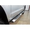 Боковые пороги для Volkswagen Amarok 2010+ (AEROKLAS, AT.WVAM.POV10)