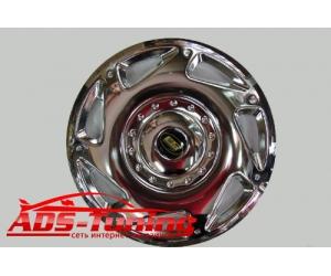 Колпаки на диски (нержавеющая сталь)  для одинарных колес Mercedes Sprinter W906 2006- (Omsa-Prime, MBSPR.WL1)