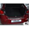 Накладка с загибом на задний бампер для Chevrolet Cruze (5D) 2013+ (NataNiko, Z-CH07)