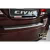 Накладка с загибом на задний бампер для Honda Civic IX (4D) 2013+ (NataNiko, Z-HO09)