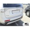 Накладка с загибом на задний бампер для Mitsubishi Outlander III 2013-2015 (NataNiko, Z-MI09)
