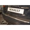 Накладка с загибом на задний бампер для Renault Fluence 2010+ (NataNiko, Z-RE02)