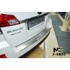 Накладка с загибом на задний бампер для Subaru Outback IV 2009-2015 (NataNiko, Z-SB05)