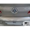 Накладка с загибом на задний бампер для Volkswagen Passat CC 2008+ (NataNiko, Z-VW19)