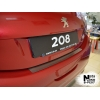 Накладки на задний бампер для Peugeot 208 2013+ (NATANIKO, B-PE07)