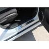 Накладки на пороги (нерж.) для Chevrolet Cruze 2009+ (Omsa Prime, 1607091)