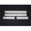 Накладки на пороги (нерж.) для Citroen C4 SD/HB 2005-2010 (Omsa Prime, 1503091)