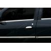 Нижние молдинги стекол (нерж., 4 шт.) для Dacia Logan SD 2005-2013 (Omsa Prime, 2001141)