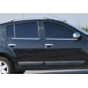 Нижние молдинги стекол (нерж., 4 шт.) для Dacia Sandero I (5D) HB 2008-2012 (Omsa Prime, 2004141)