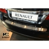 Накладка на задний бампер для Renault Latitude 2010+ (NATA-NIKO, B-RE07)