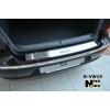 Накладка на задний бампер для Volkswagen Passat CC 2008+ (NATA-NIKO, B-VW19)