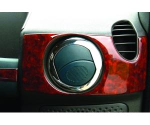 Накладки на вентиляционные створки (нерж.) 4 шт. для FIAT DOBLO 2001-2004 (Omsa Prime, 2520023)