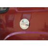 Накладка на лючок бензобака (нерж.) для Fiat Doblo I 2000-2010 (Omsa Prime, 2520071)