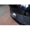 Окантовка на противотуманные фары (нерж., 2 шт.) для Fiat Doblo I 2006-2010 (Omsa Prime, 7534103)