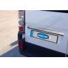 Накладка крышки багажника (над номером, нерж.) для Fiat Ducato 2006+ (Omsa Prime, 2523052)