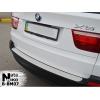 Накладка на задний бампер BMW X5 (E70) 2006+ (NATA-NIKO, B-BM07)