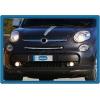 Накладка на решетку радиатора (нерж.) для Fiat 500L 2013+ (Omsa Prime, 2529081)