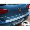 Накладка на задний бампер для Volkswagen Golf VII 2012+ (NATA-NIKO, B-VW30)