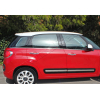 Нижние молдинги стекол (нерж., 4 шт.) для Fiat 500L 2013+ (Omsa Prime, 2529141)