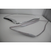 Хром накладки передних фар (комплект 2 шт.) для SSANG YONG KORANDO 2011+ (AUTOCLOVER,  B731)