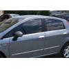 Нижние молдинги стекол (нерж., 6 шт.) для Fiat Grande Punto (5D) HB 2005+ (Omsa Prime, 2502141)