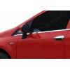 Нижние молдинги стекол (нерж., 2 шт.) для Fiat Grande Punto (3D) HB 2005+ (Omsa Prime, 2502142)
