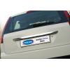 Накладка крышки багажника (над номером, нерж.) для Ford Fiesta V HB 2002-2009 (Omsa Prime, 2603052)