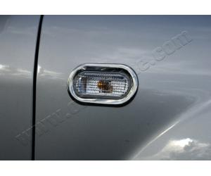Окантовка на повторители поворота (нерж., 2 шт.) для Ford Fiesta V (5D/3D) HB 2002-2009 (Omsa Prime, 9500151)