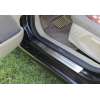 Накладки на пороги (нерж.) для Ford Fiesta VI (5D) HB 2009+ (Omsa Prime, 2614091)