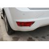 Окантовка рефлекторов заднего бампера (нерж., 2 шт.) для Ford Focus HB 2008-2011 (Omsa Prime, 2607152)