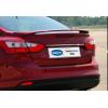 Накладка крышки багажника (над номером, нерж.) для Ford Focus III SD 2011+ (Omsa Prime, 2608054)