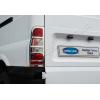 Окантовка на стопы (нерж., 2 шт.) для Ford Transit 2003-2013 (Omsa Prime, 2621101)